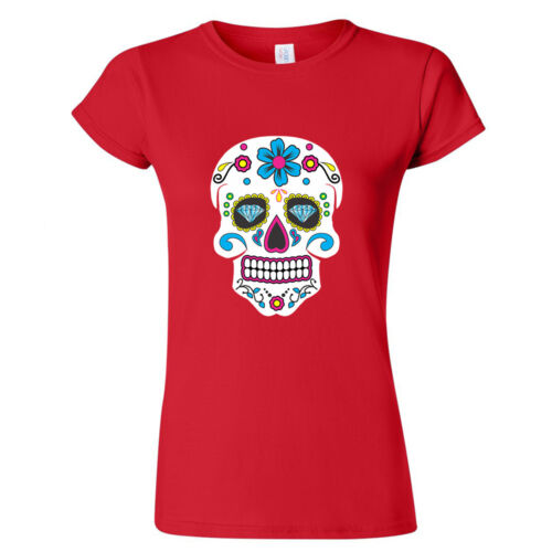 Sugar Skull LADY TSHIRT Day of the Dead Mexican Celebration Tee Shirt Calavera