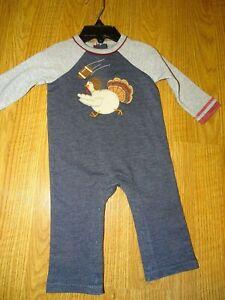 Mud Pie Thanksgiving Turkey Tutu Crawler One Piece 3 6 9 12 Months  NWT