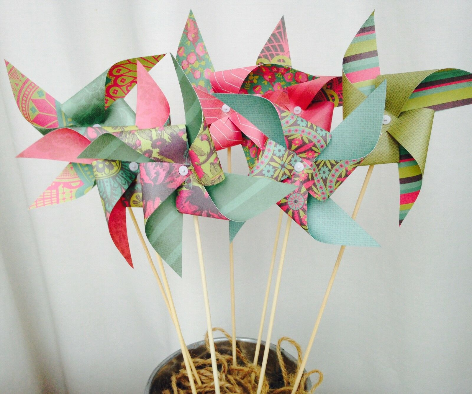 SPINNING Pinwheel kit  wedding table decorations  ONLY PAY POSTAGE FOR ONE