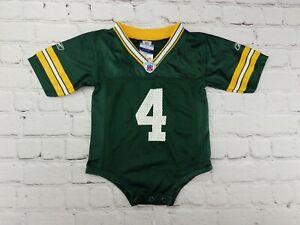 Brett-Favre-4-Green-Bay-Packers-NFL-Reebok-Jersey-Toddler-12-Months-RARE-size