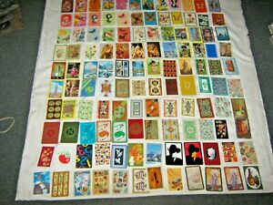 Assorted-Lot-of-120-Swap-Cards-Include-Butterflies-Cartoon-Designs-amp-Tourism