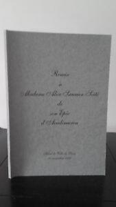 Mejora De Señora Alicia Saumier Seïté Son Espada Académico - 14 Noviembre 1996