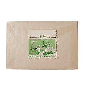 Migratory-Bird-Hunting-Duck-Stamp-2-1957-1958-American-Eider-Green-Signed