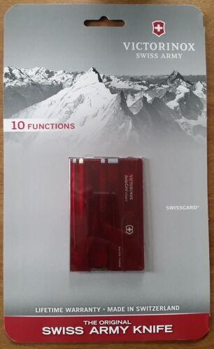 Brand New Victorinox Swiss Army Swisscard Classic 10 Functions