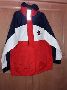 Simpson-Lawrence-Mens-XL-Jacket-Red-White-amp-Blue