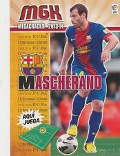 N°060 MASCHERANO # ARGENTINA FC.BARCELONA CARD PANINI MGK LIGA 2014