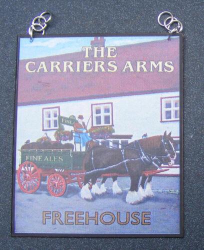 Échelle 1:12 Les transporteurs Arms PUB Signe Maison de Poupées Miniature Bar Taverne Accessoire