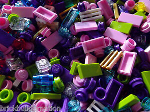 250-LEGOS-GIRL-PASTEL-FRIENDS-COLORS-LEGO-TINY-DETAIL-PIECES-HUGE-BULK-LOT
