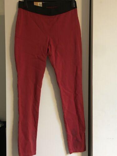 Nouveau m/&s Femme À Enfiler Jegging Berry rouge taille 12 long