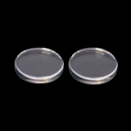 18mm Circular Clear Round Flat Glass Disc Cabochons