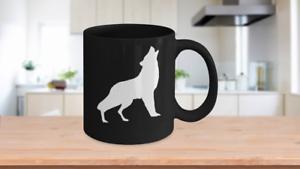 Coyote-Mug-Black-Ceramic-Coffee-Cup-Howling-Dog-Gift-for-Prairie-Ranch-Hunter