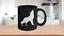 Coyote-Mug-Black-Ceramic-Coffee-Cup-Howling-Dog-Gift-for-Prairie-Ranch-Hunter miniature 1