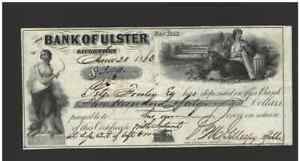 Bank-Check-Awesome-obsolete-note-from-1861-Bank-of-Ulster-Saugerties-NY-NT0585