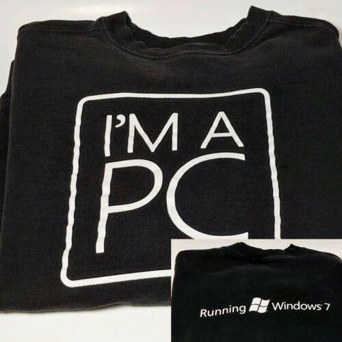 "Microsoft ""I'm a PC"" Black Sweatshirt - Size L (La"