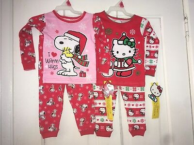 Peanuts Snoopy Girls Snug Fitting 2-Piece Pajama Set Size 9 Months OR 18 Months