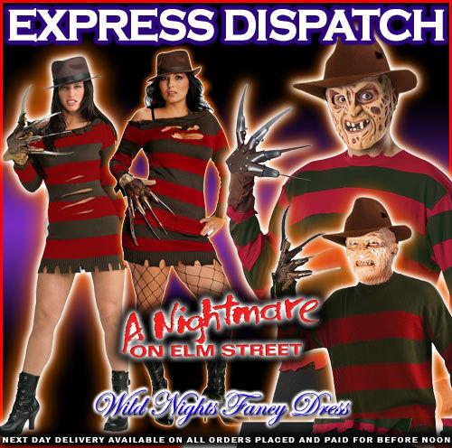Halloween Costume Robe fantaisie un cauchemar sur Elm St homme femme freddy krueger