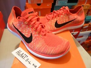 info for df9ad 01a9a Details about Nike AIR MAX Free 4.0 Flyknit Running Men's Shoes 717075-600  SZ 12 RARE