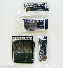 MARY KAY COMPACT BRUSH LOT WITH POWDER, CHEEK, AND 2 SETS EYE APPLICATOR BRUSHES