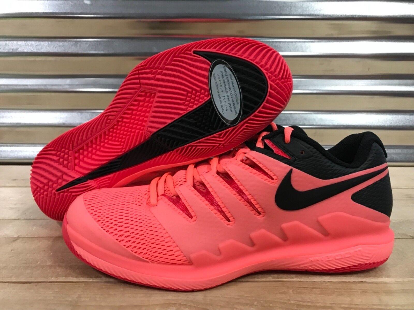 Nike Air Zoom Vapor X HC Tennis shoes Federer Lava Glow Black SZ ( AA8030-661 )