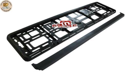 2x UE soporte de matrícula de negro matrícula soporte de matrícula Soporte coche car