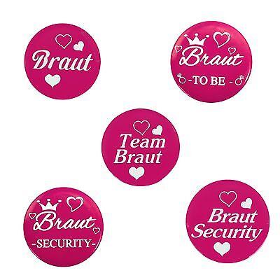 Team Braut Haarreifen Set für Junggesellinnenabschied JGA Hochzeit Pink Braut