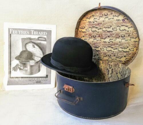 TIRARD Bowler Derby Size 6 7/8 + Case + Original 1
