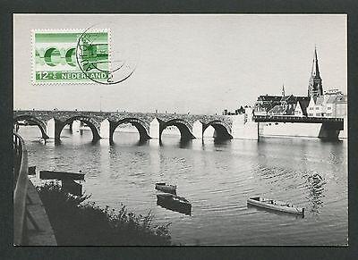 Briefmarken Gerade Niederlande Mk 1968 BrÜcken Maastricht Bridge Carte Maximum Card Mc Cm D5760 Weich Und Leicht