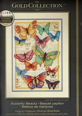ab5b0e7241ba1 Counted Cross Stitch Kit BUTTERFLY BEAUTY Dimensions Gold Collection  #70-35338