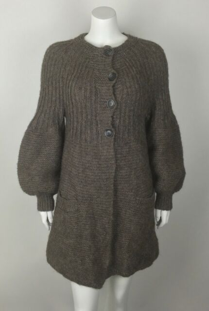By Malene Birger Women s Azealea Chunky Cardigan Sweater Alpaca Blend  Pockets L 2c6d7661f