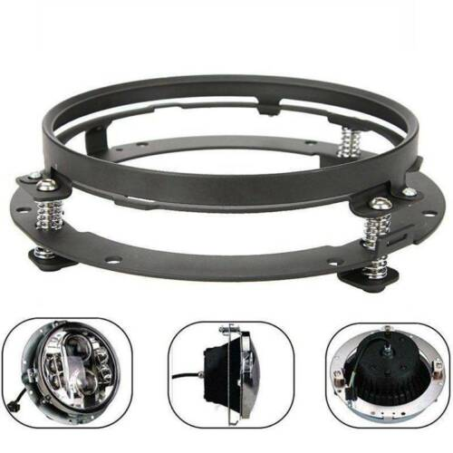"1x 7/"" LED Headlight Round Ring Mounting Bracket for Jeep Wrangler or"
