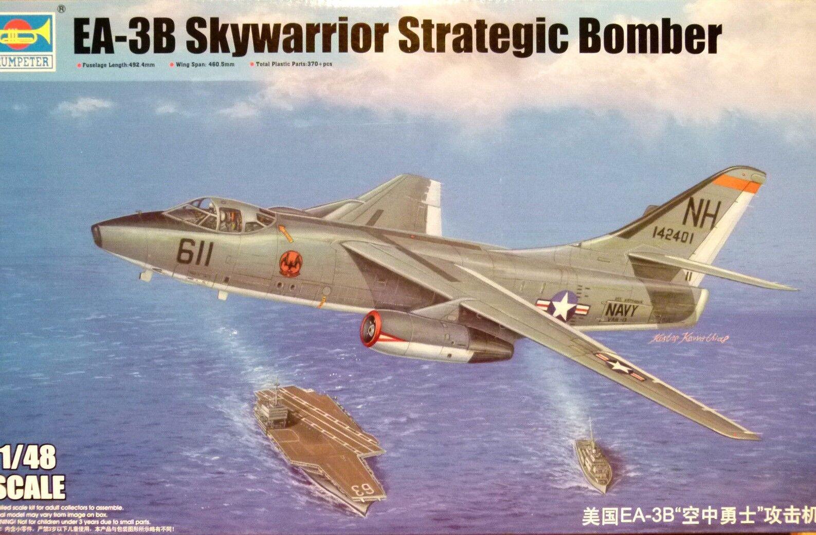 Trumpeter 1 48 Douglas EA-3B Skywarrior Strategic Bomber Aircraft Model Kit