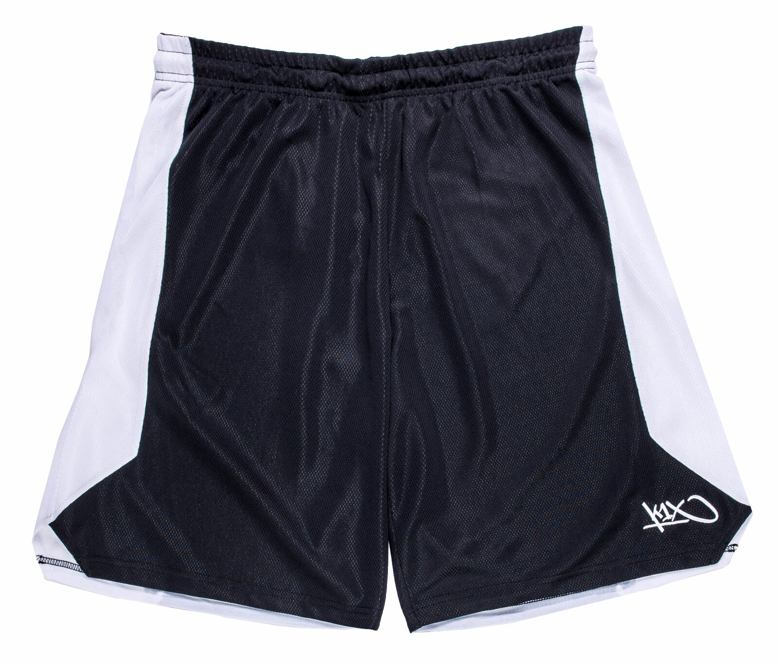 K1X Triple Double Basketball Shorts - Black White Red