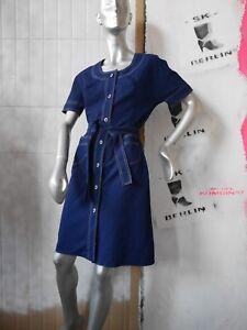 Vintage Navy 60 Années 60 Robe droite d'été Maritim années des Mod Leipzig Veb Robe True Dress 4cUxqpwnf1