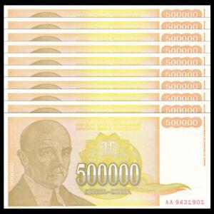 YUGOSLAVIA 500000 DINARA 1994 P 143 UNC