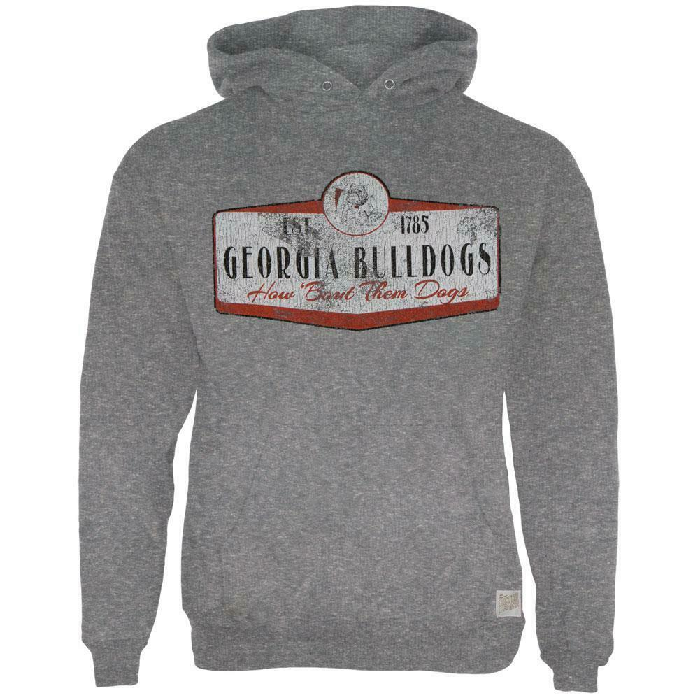 Georgia Bulldogs - Distressed How Bout Them Dogs Sign Tri-Blend Adult Hoodie