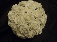 Ivory Foam Rose Artificial Wedding Flower Package