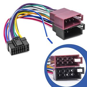DIN-ISO-Auto-Radio-Adapter-Kabel-Stecker-Kabel-Baum-fuer-Alpine-CDA-CDE-IDA-Radio
