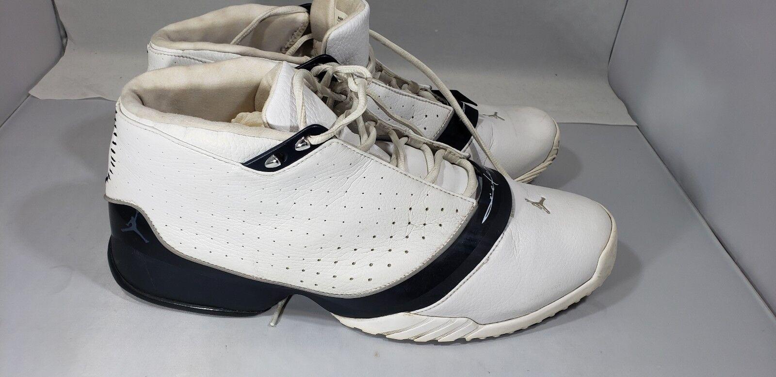 Nike Air Jordan Jeter Jumpman Jet Mens Size 14 040406 LN2 White Black Derek