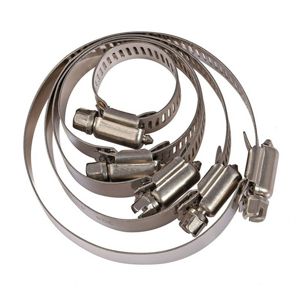 British Type Stainless Steel Hose Clips Pipe Clamps 304ss jubilee type