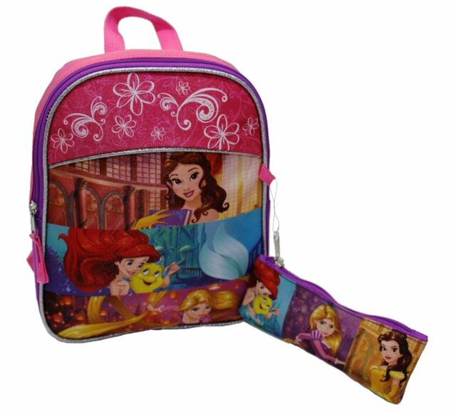 dc8cf0aef2c Disney Princess School Bag 12 Inch Backpack with Pencil Case Set for Kids   Pink