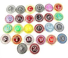 26pcs/lot alloy Rhinestone Charm Chunk Snap Button fit for Noosa Style Bracelet