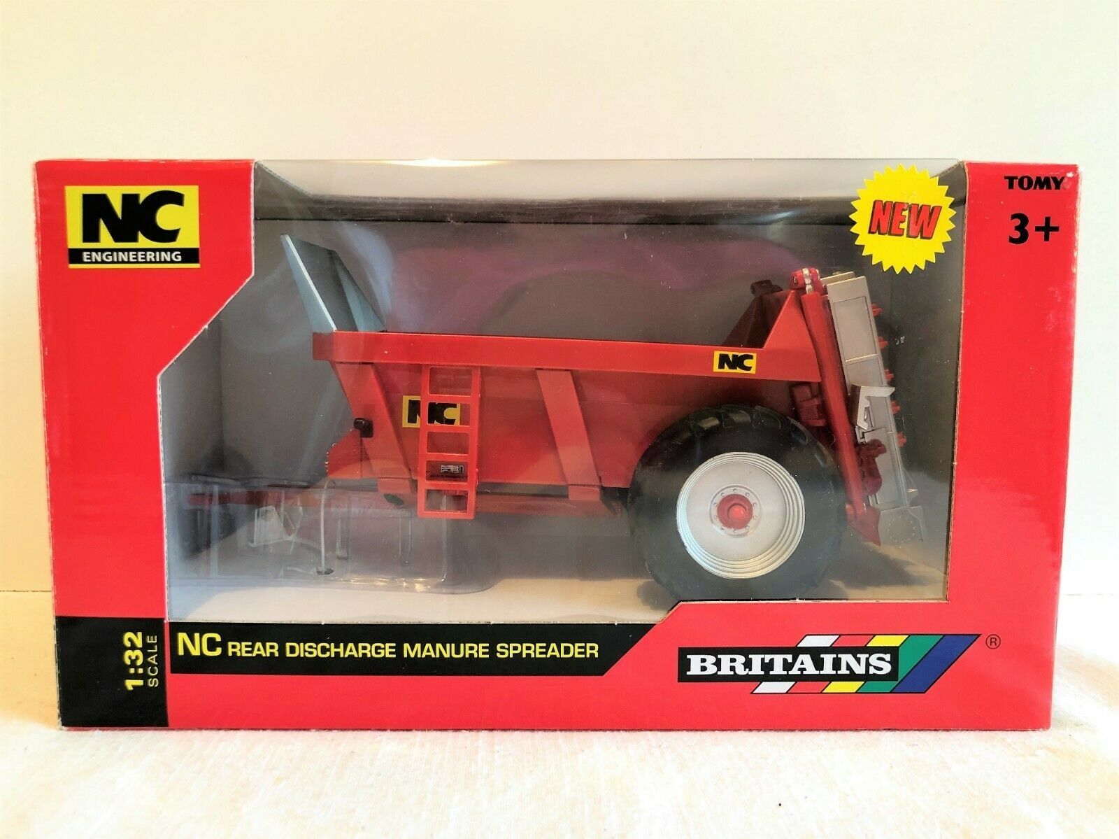 BRITAINS 1 32 - NC REAR DISCHARGE MANURE SPREADER BOXED 43181 - PLEASE SEE BELOW