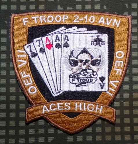 US Army F Troop 2nd Battalion hook//loop Color Patch 10th Aviation Regiment
