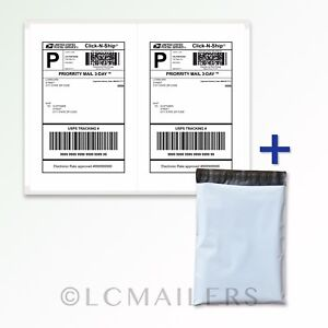 100-10x13-Poly-Mailers-Shipping-Envelopes-Bags-and-200-8-5x5-5-Shipping-Labels