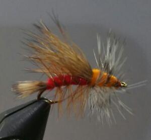 12 - Rubber Legged Crystal Stimulator One Dozen Dry Fly Yellow