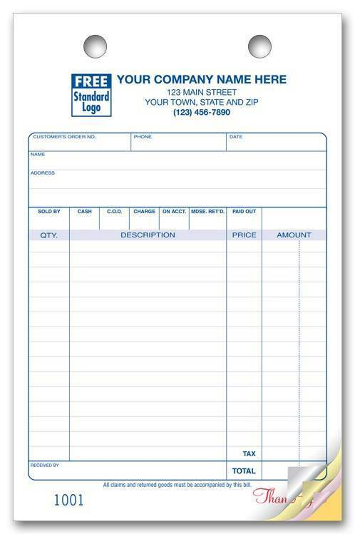 500 Multi-Purpose 2 Part Register Forms, Large Format Nebs Deluxe No.610