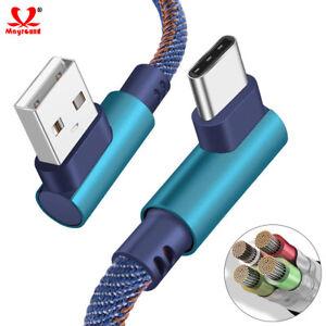 Cargador-Usb-Tipo-C-codo-de-carga-rapida-cable-de-datos-para-Samsung-Galaxy-S8-S9-Plus