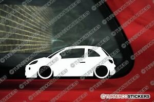 Details About 2x Lowered Car Stickers Auto Aufkleber For Opel Adam