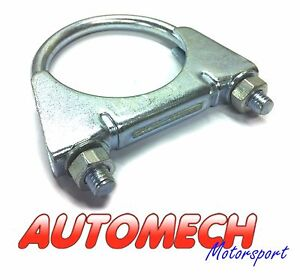 Automech Universal Exhaust Clamp Suits 65mm Overall Diameter Exhaust Tube