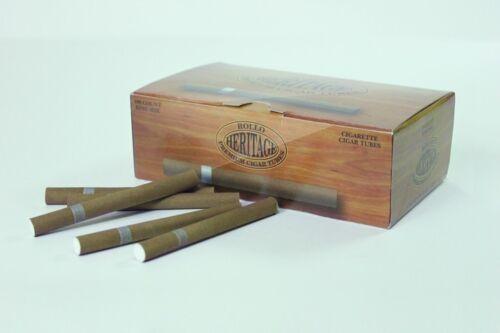 500 HERITAGE CIGARE ROLLO TUBE Cigarrette Tobbacco Filter *FREE INJECTOR*